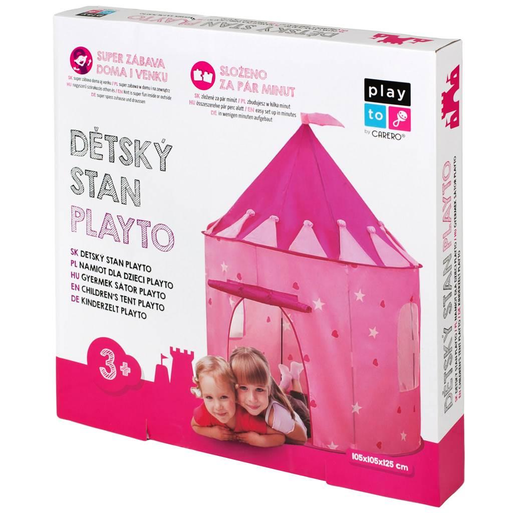 Detský stan PlayTo Hrad ružový