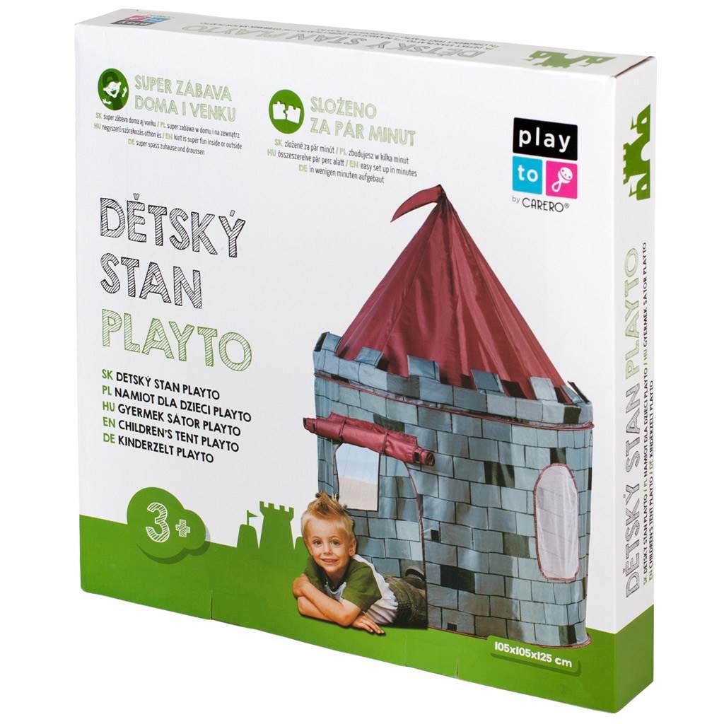 Detský stan Hrad PlayTo sivý