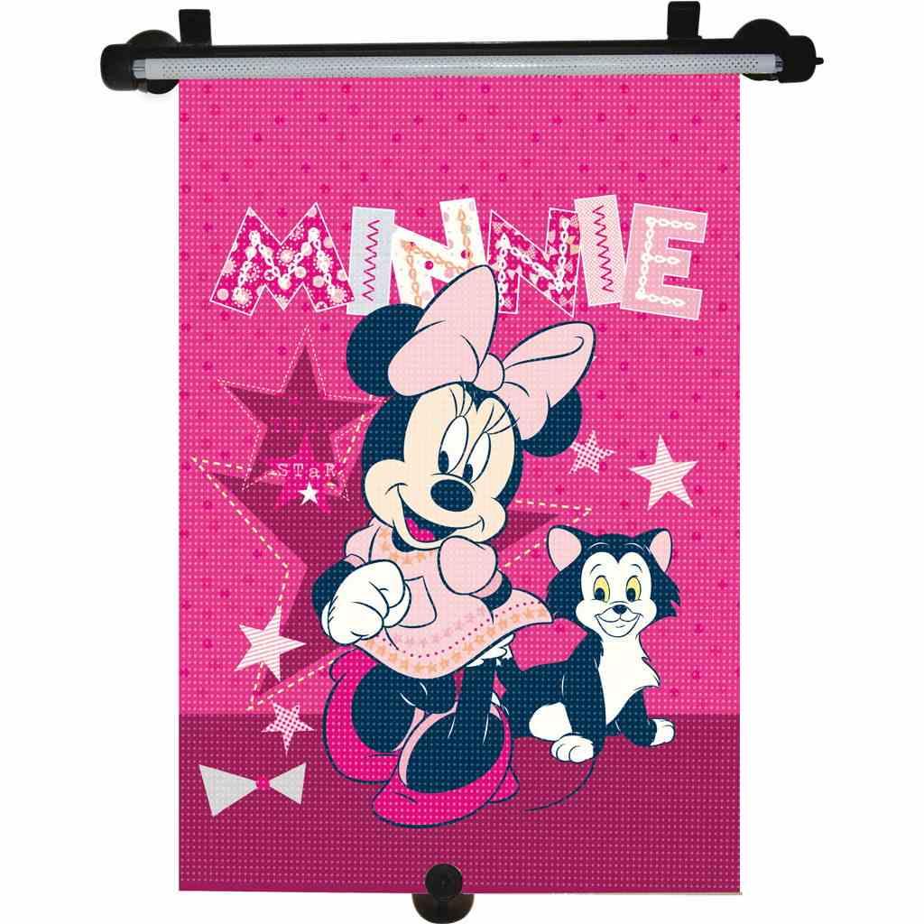 Slnečná roleta do auta Minnie tmavo ružová