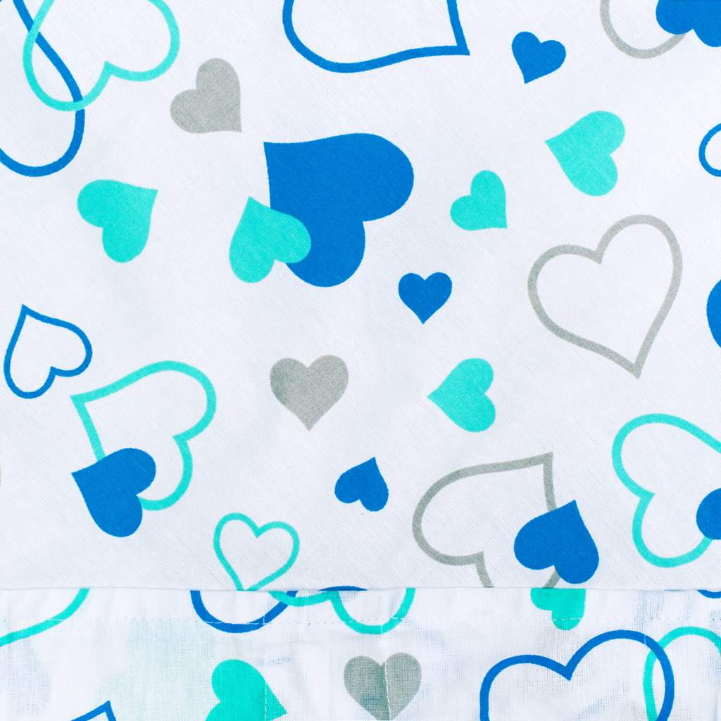 Klasická šnurovacia zavinovačka New Baby modré srdiečka