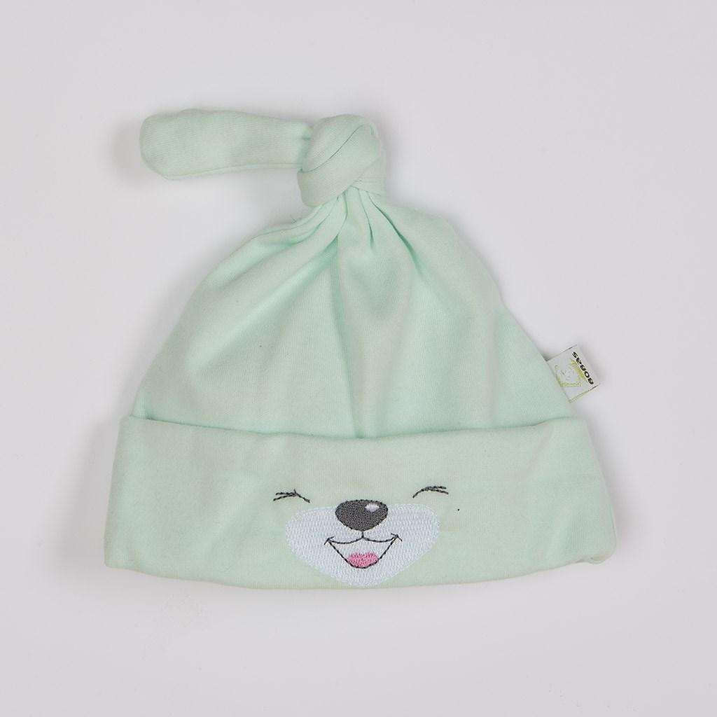 Bavlnená dojčenská čiapočka Bobas Fashion Lucky zelená