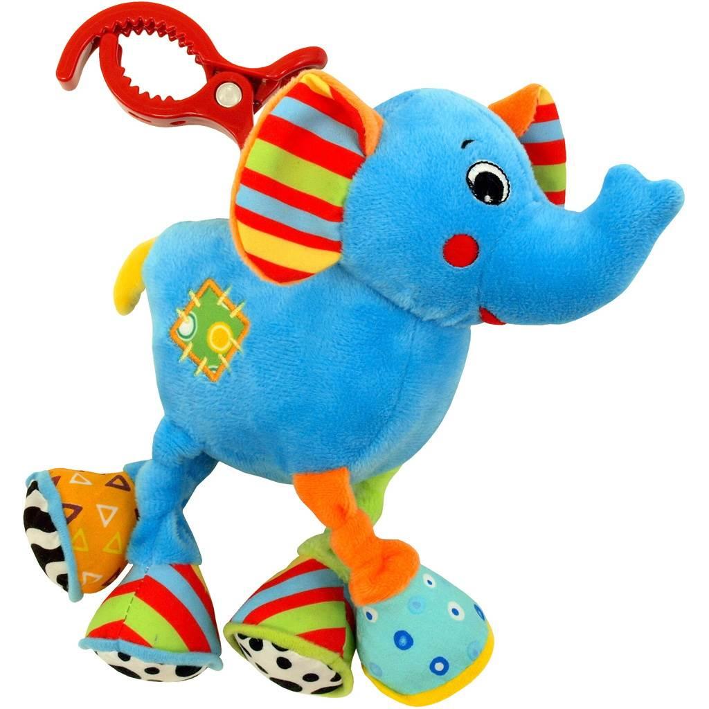 Detská plyšová hračka s vibráciou Baby Mix Sloník