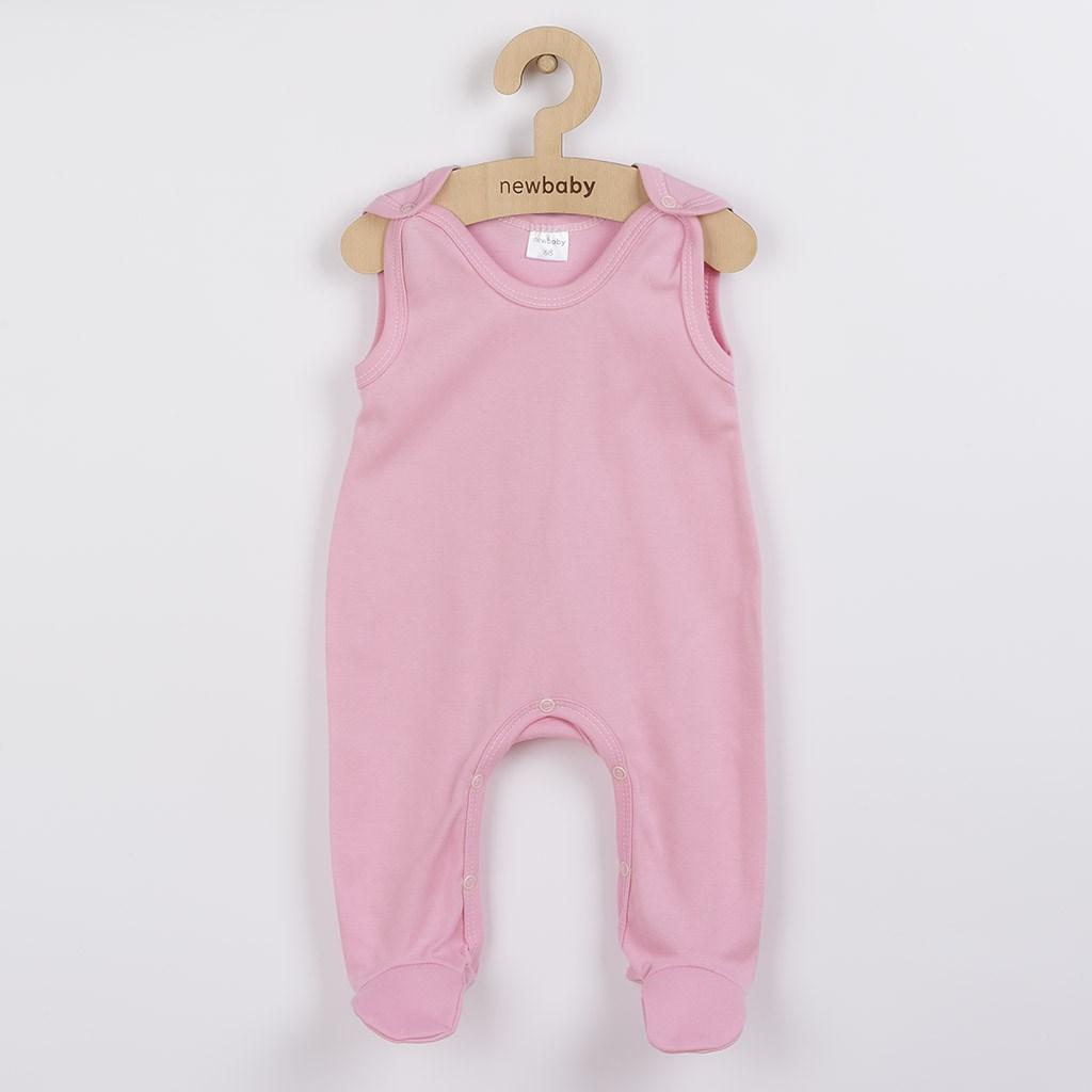 Dojčenské dupačky New Baby Classic II ružové-56 (0-3m)