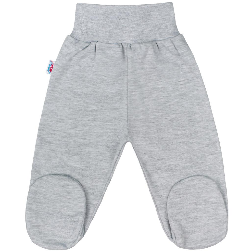 Dojčenské polodupačky New Baby Classic II sivé-50