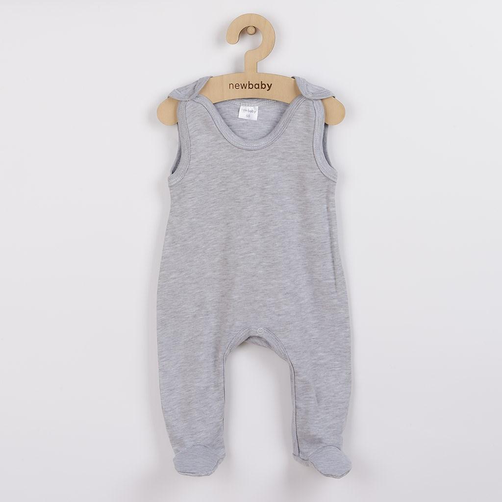 Dojčenské dupačky New Baby Classic II sivé-68 (4-6m)