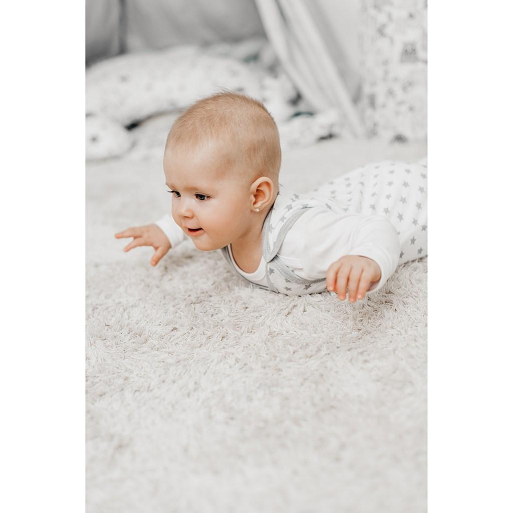 Dojčenské dupačky New Baby Classic II sivé s hviezdičkami
