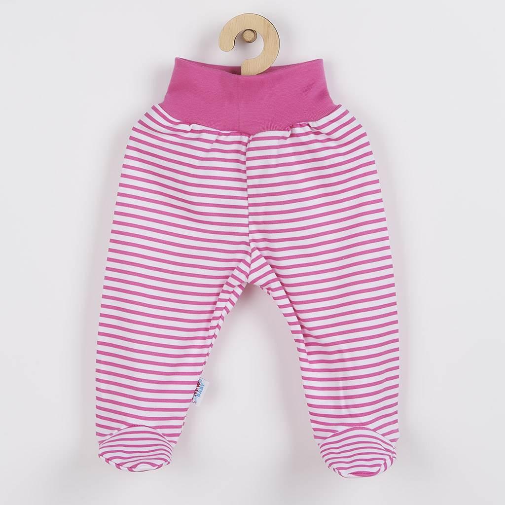Dojčenské polodupačky New Baby Classic II s ružovými pruhmi