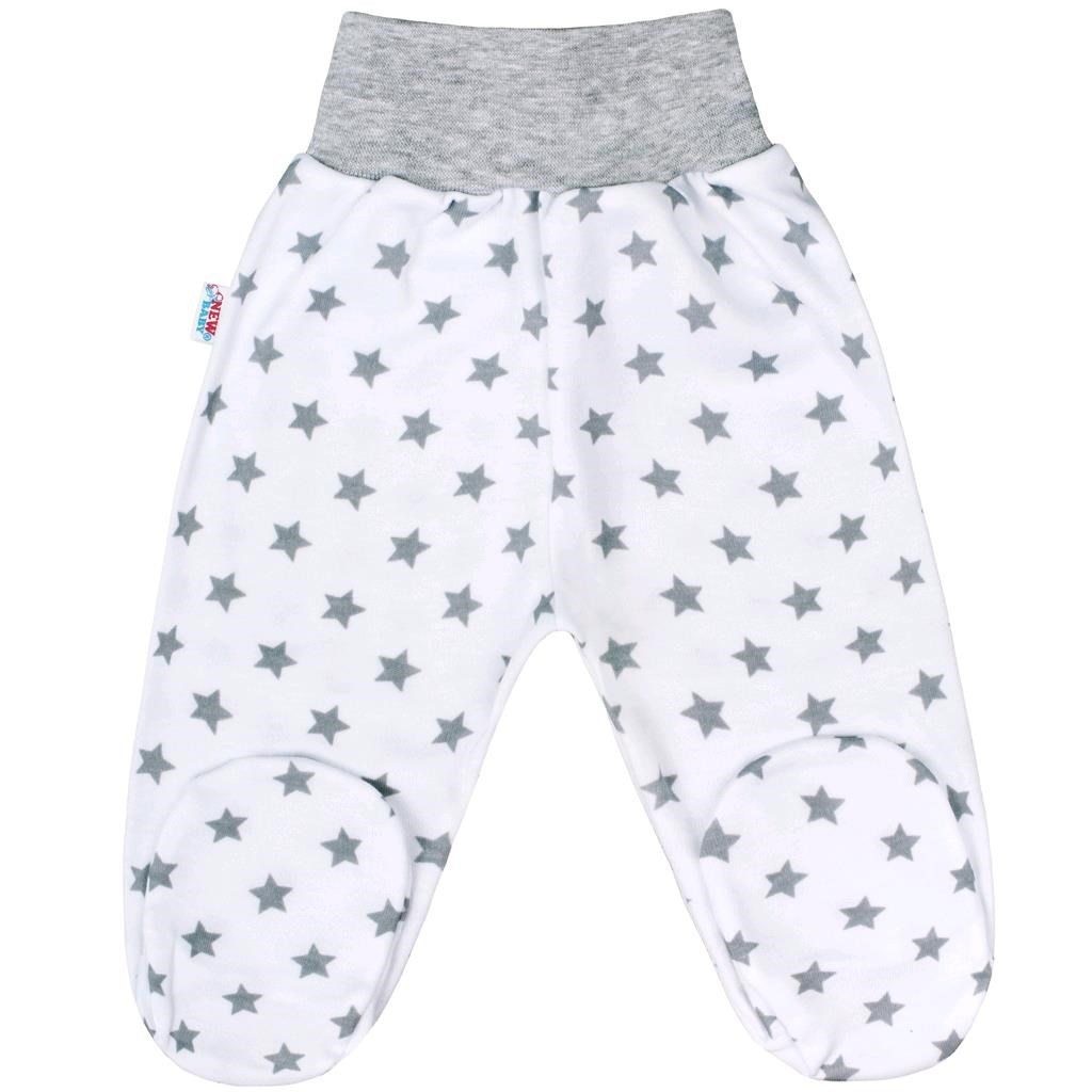 Dojčenské polodupačky New Baby Classic II sivé s hviezdičkami-80 (9-12m)