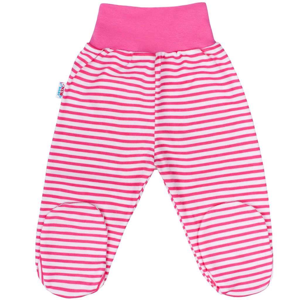 Dojčenské polodupačky New Baby Classic II s ružovými pruhmi-80 (9-12m)