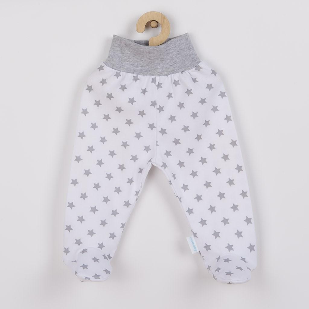 Dojčenské polodupačky New Baby Classic II sivé s hviezdičkami