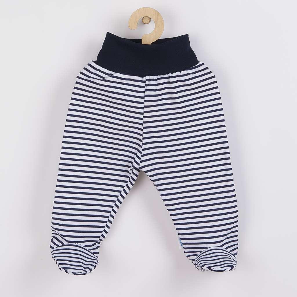 Dojčenské polodupačky New Baby Classic II s modrými pruhmi-86 (12-18m)