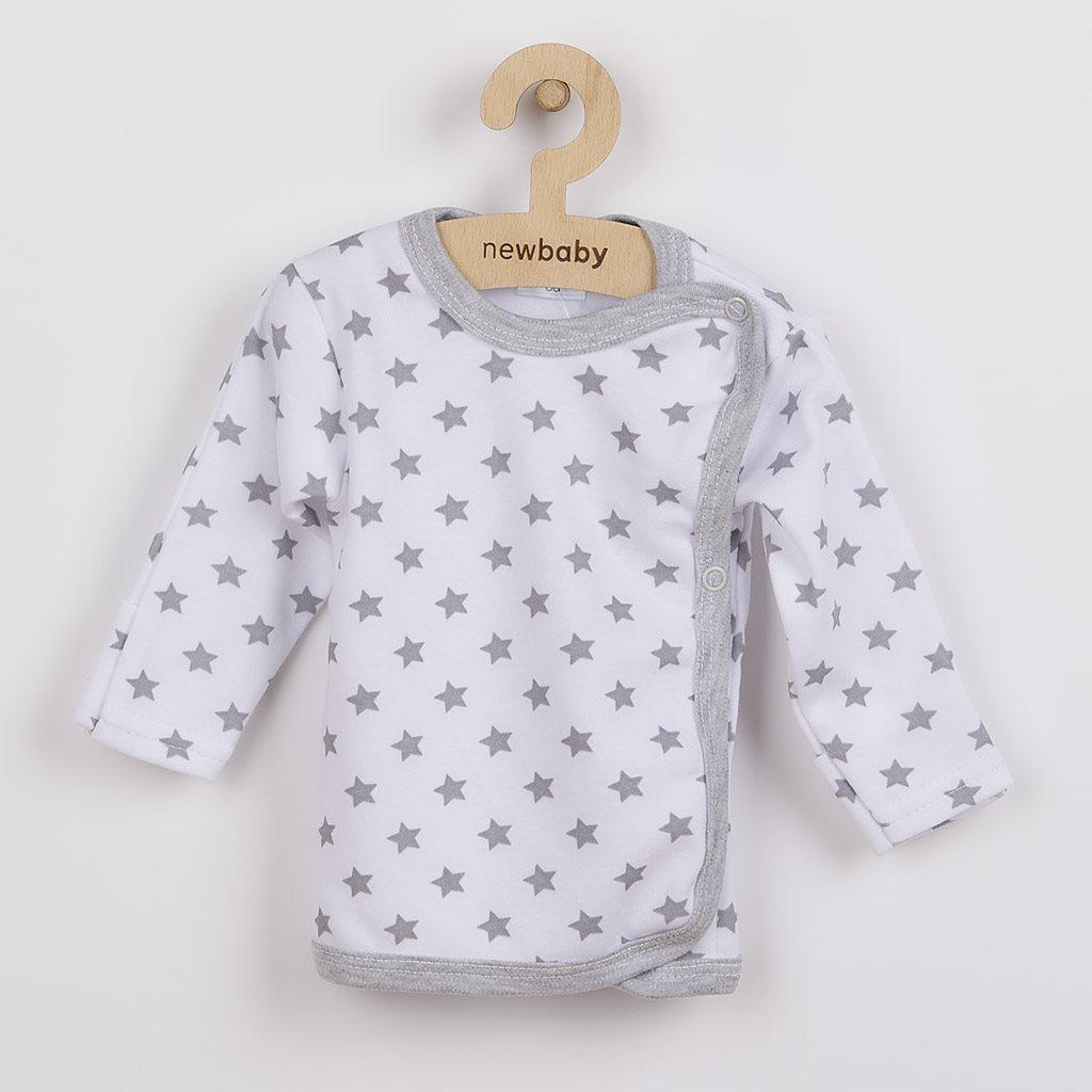 Dojčenská košieľka New Baby Classic II sivá s hviezdičkami 68 (4-6m)