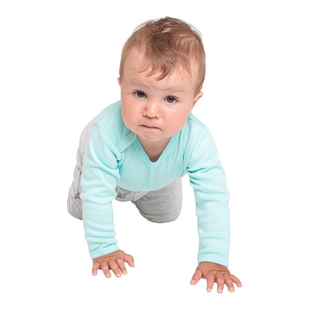 Dojčenské body celorozopínacie New Baby Classic II mätové