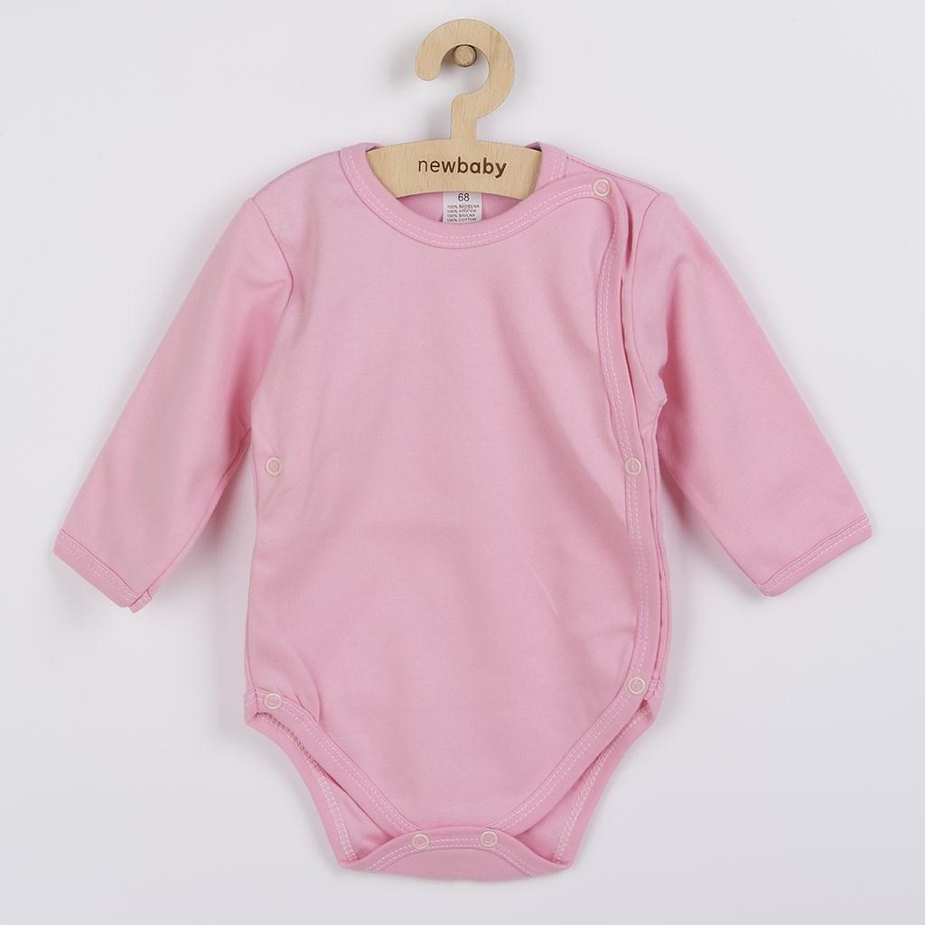 Dojčenské body celorozopínacie New Baby Classic II ružové