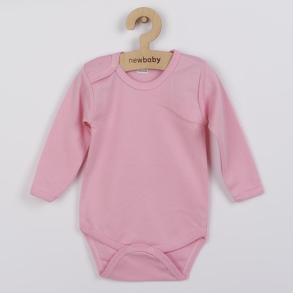 Dojčenské body New Baby Classic II ružové