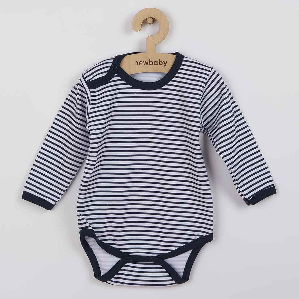 Dojčenské body New Baby Classic II s modrými pruhmi