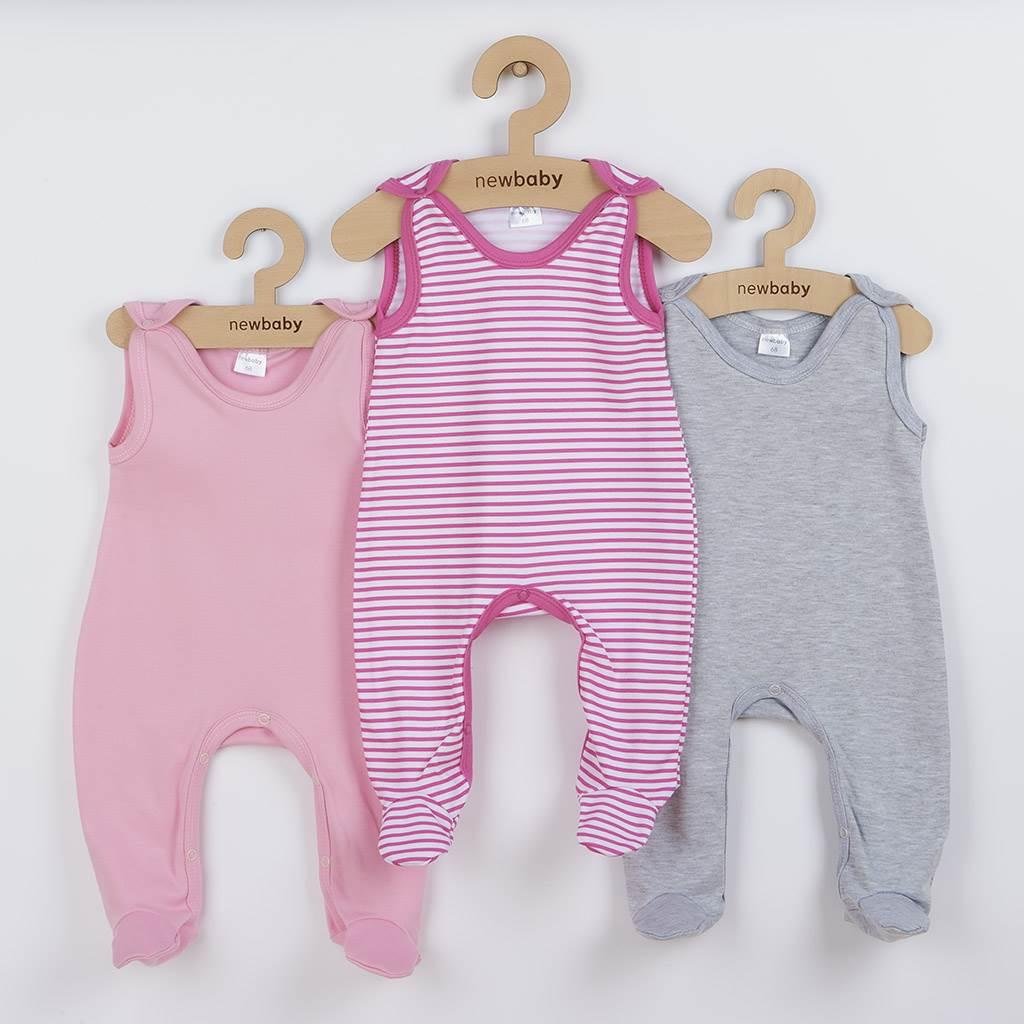 Dojčenské dupačky New Baby Classic II Dievča 3ks-56 (0-3m)