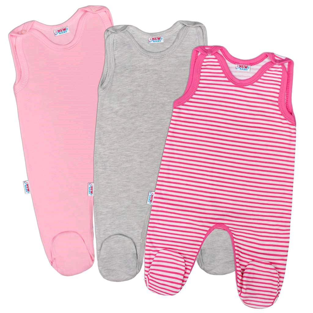 Dojčenské dupačky New Baby Classic II Dievča 3ks