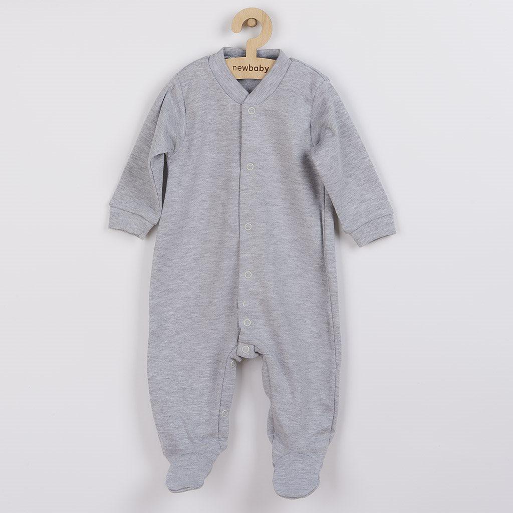 Dojčenský overal New Baby Classic II sivý-80 (9-12m)
