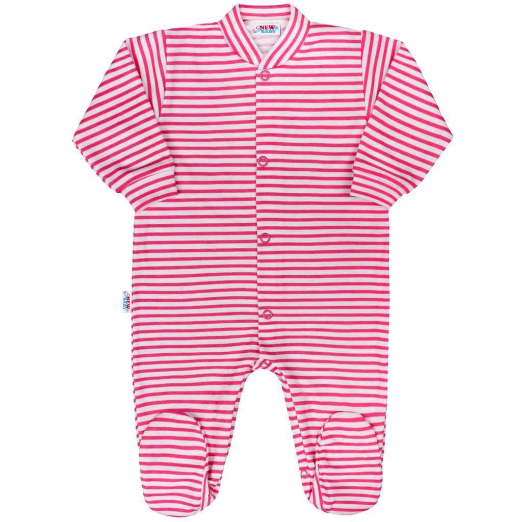 Dojčenský overal New Baby Classic II s ružovými pruhmi-80 (9-12m)