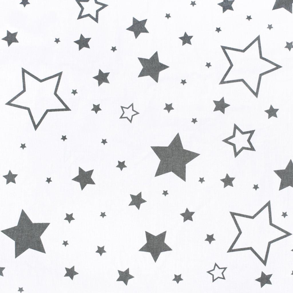 Univerzálny dojčiaci vankúš v tvare C New Baby hviezdy sivé