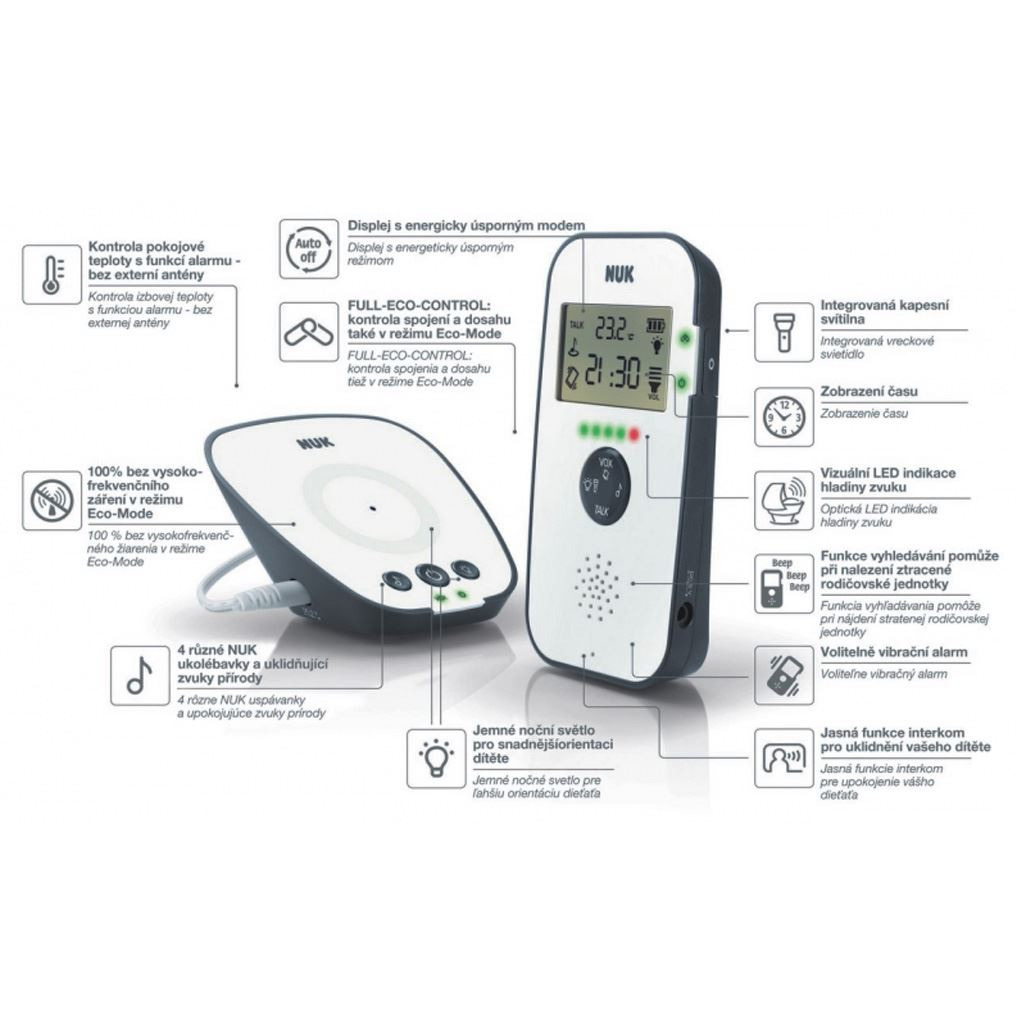 Digitálna opatrovateľka NUK Eco Control Audio Display 530D+