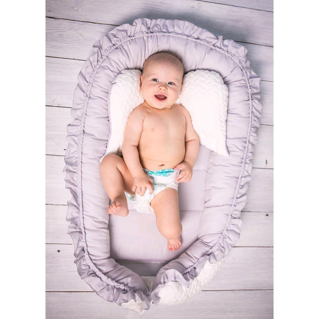Luxusné hniezdočko pre bábätko Králiček Belisima sivo-ružové