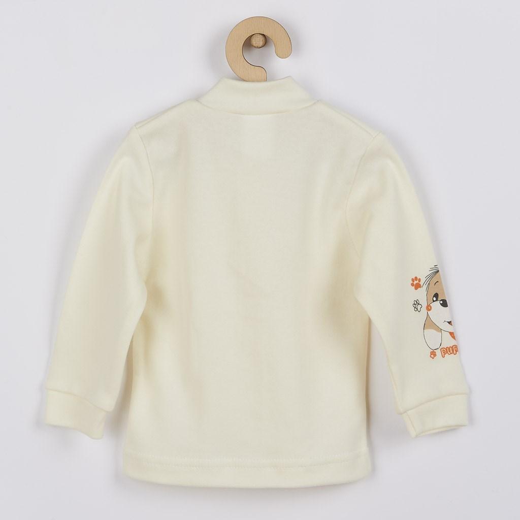 Dojčenský kabátik New Baby puppy béžový
