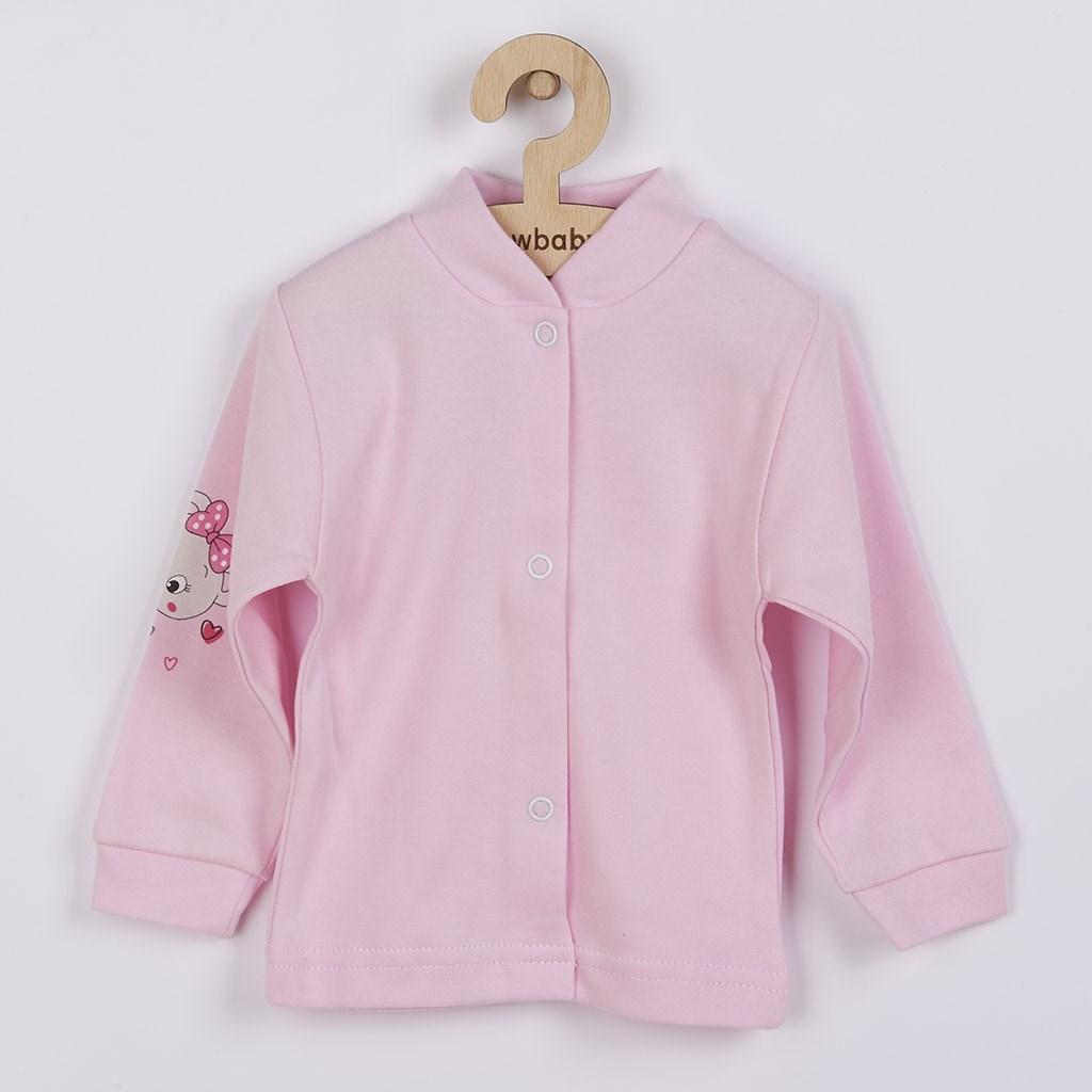 Dojčenský kabátik New Baby medvedík ružový-56 (0-3m)