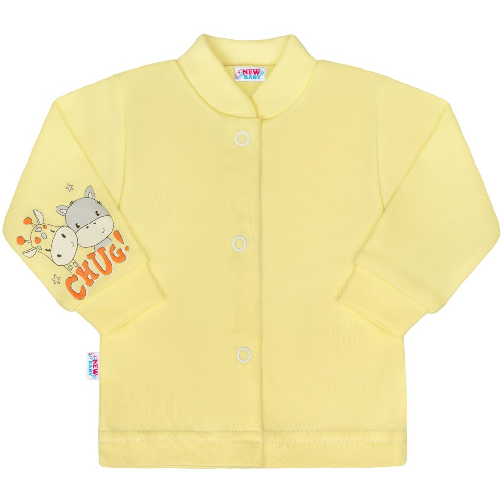 Dojčenský kabátik New Baby chug žltá