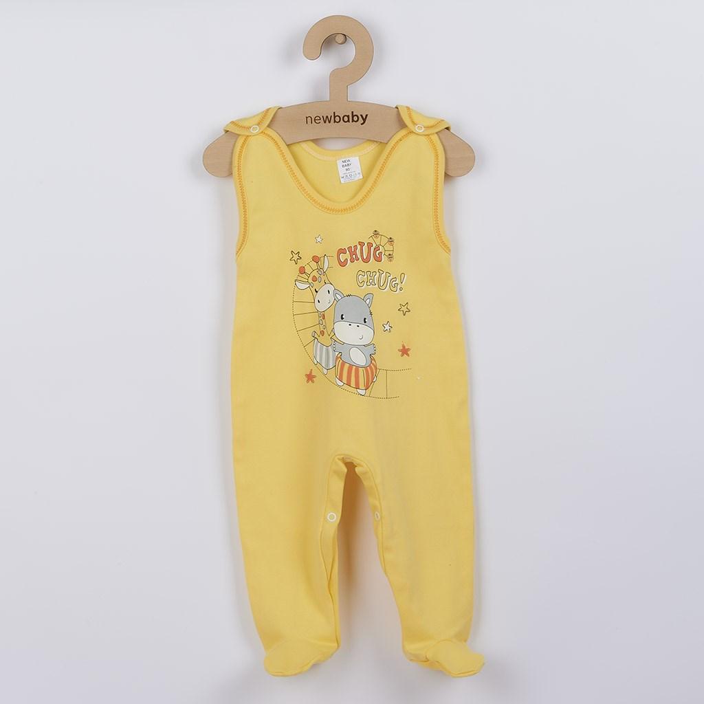 Dojčenské dupačky New Baby chug žlté-86 (12-18m)