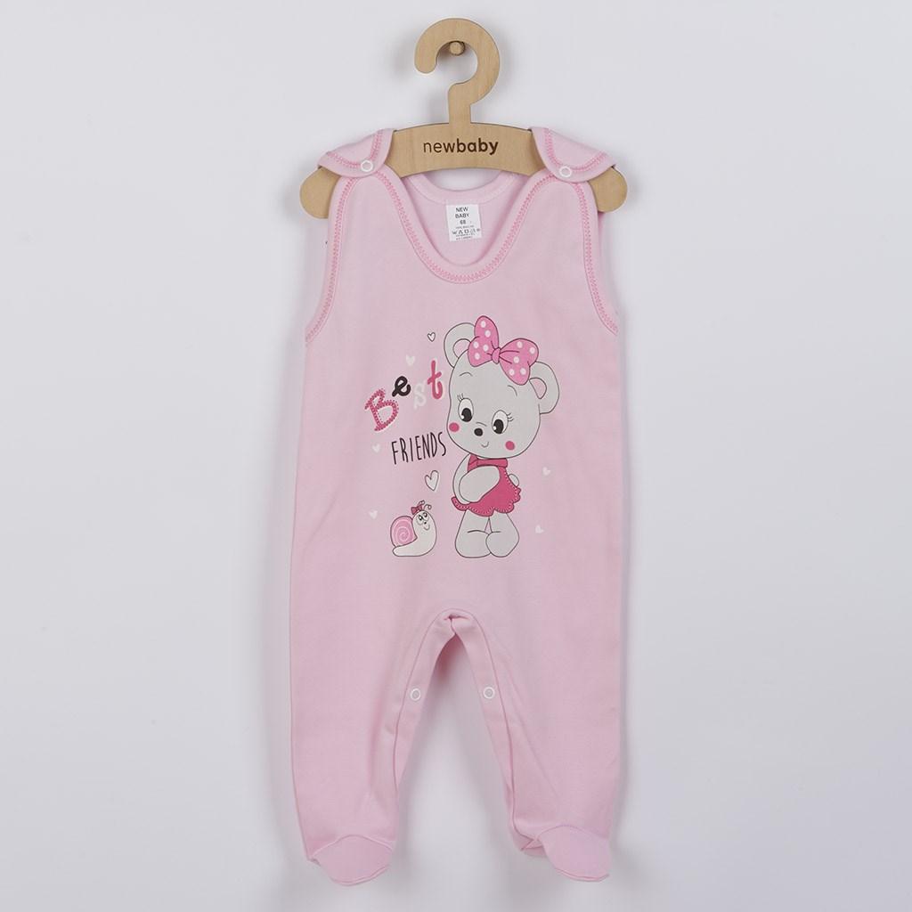 Dojčenské dupačky New Baby myška ružové