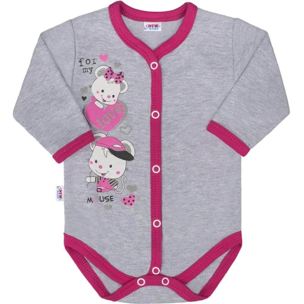 Detské celorozopínacie body New Baby Love Mouse