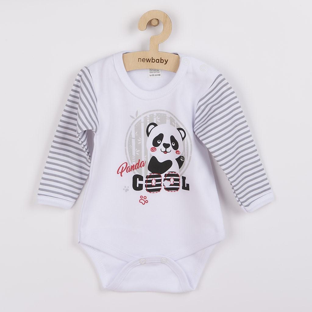 Dojčenské body s dlhým rukávom New Baby Panda