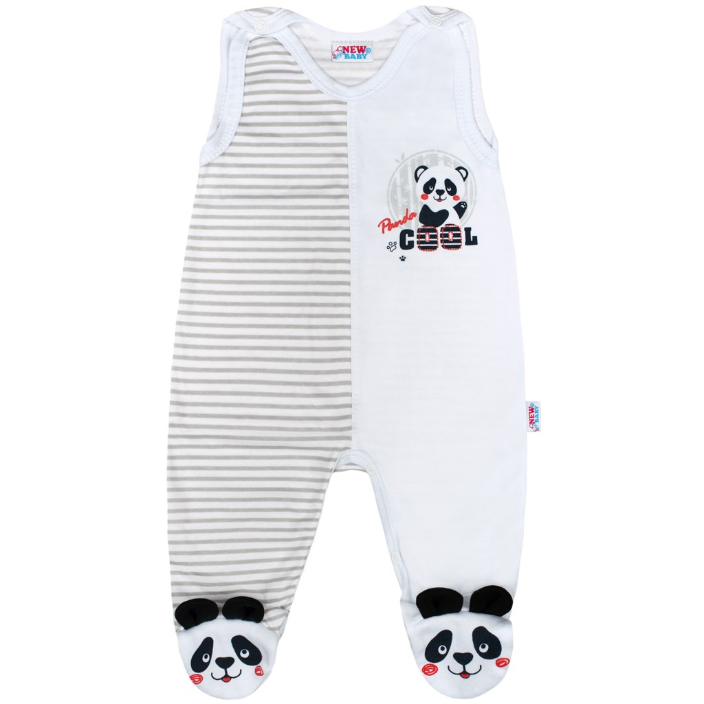 Dojčenské dupačky New Baby Panda 56 (0-3m)