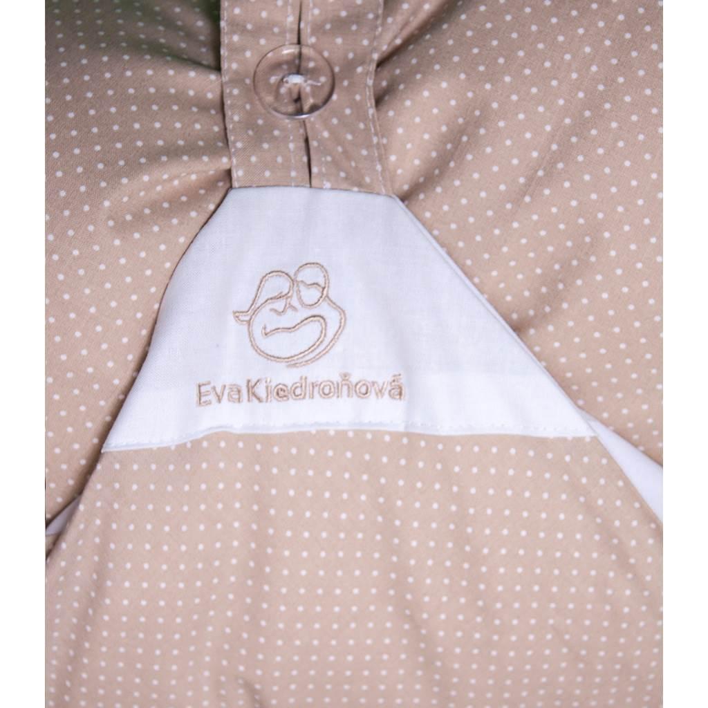 Obliečka béžová s bodkami na zavinovačku Dráčik