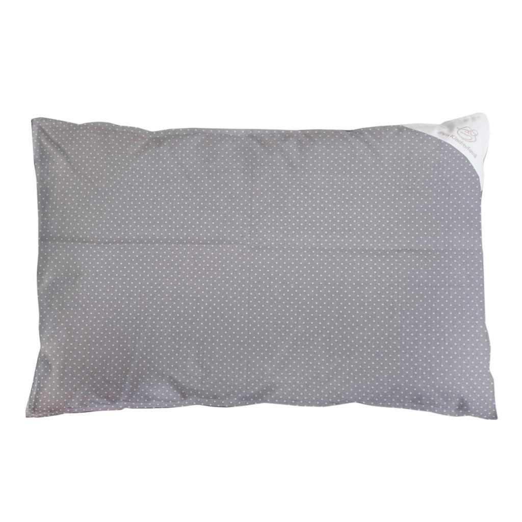 Obliečka na vankúš sivá s bodkami - 60x40 cm