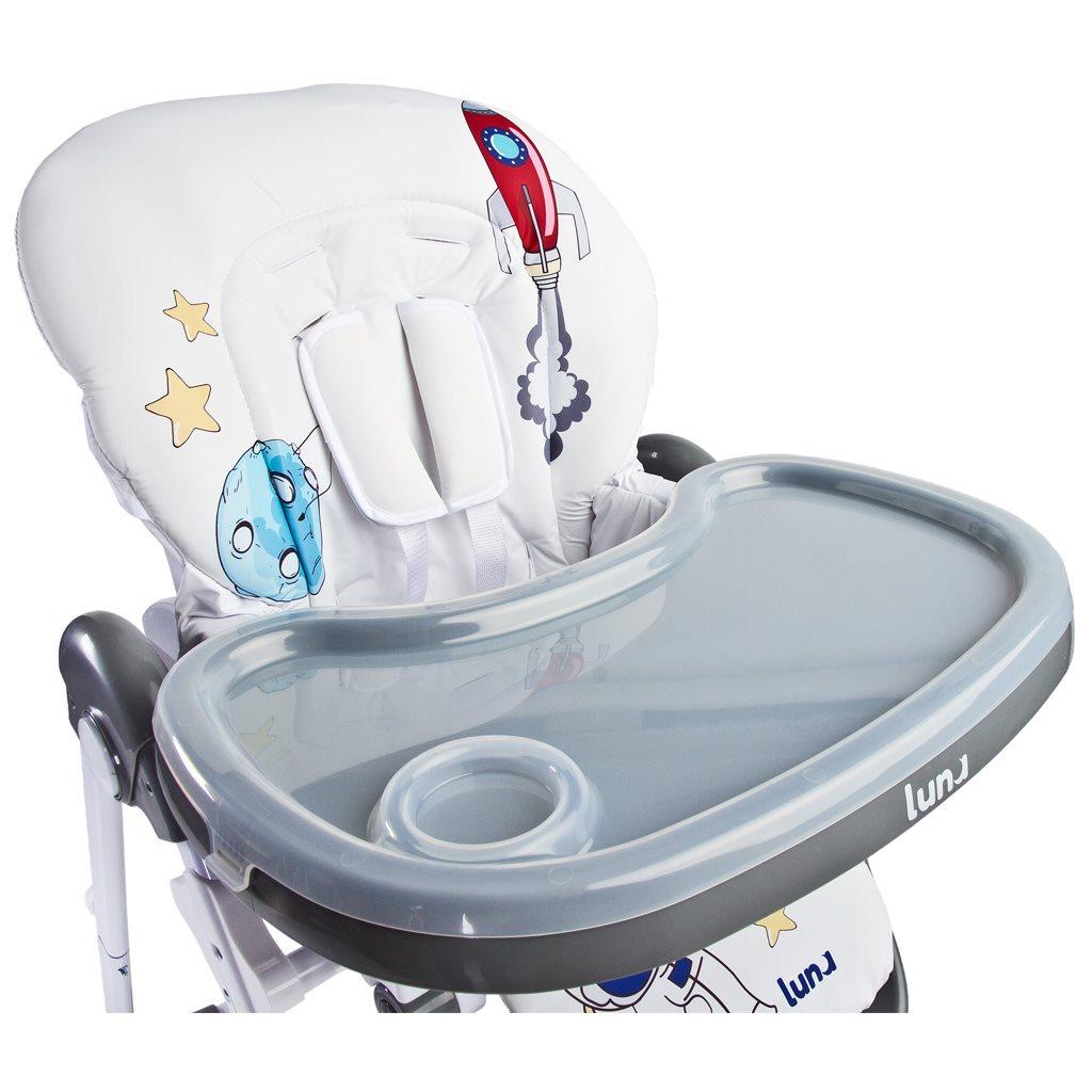 Jedálenská stolička CARETERO Luna grey