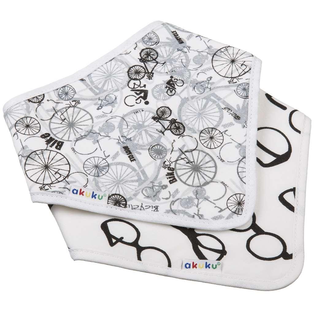 Detský podbradník-šatka Akuku 2 ks bicykel-okuliare
