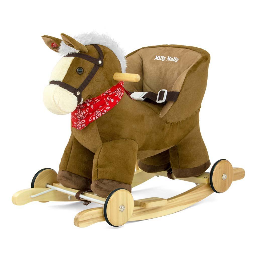 Hojdací koník Milly Mally Polly hnedý