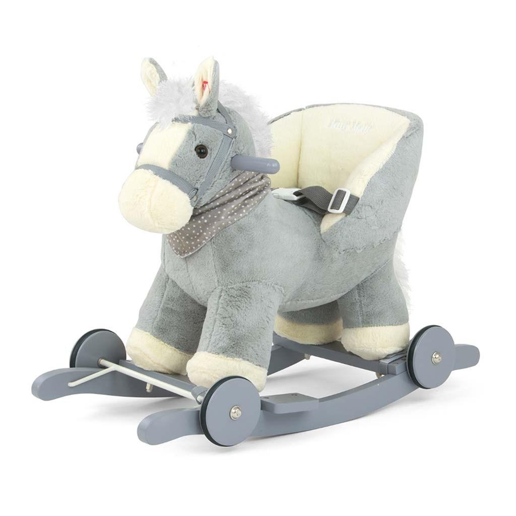 Hojdací koník Milly Mally Polly sivý