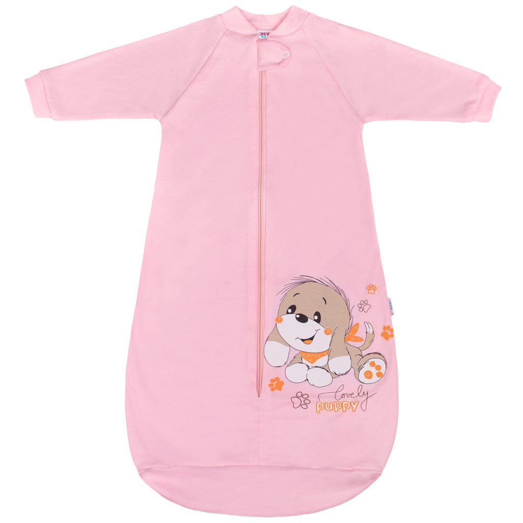 Dojčenský spací vak New Baby psík ružový-68 (4-6m)