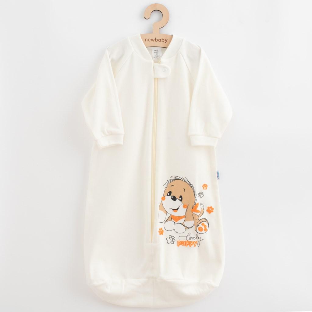 Dojčenský spací vak New Baby psík béžový