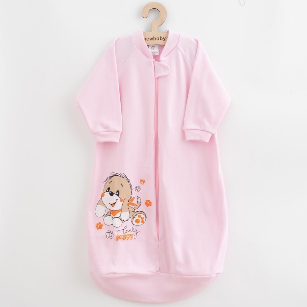 Dojčenský spací vak New Baby psík ružový-92 (18-24m)