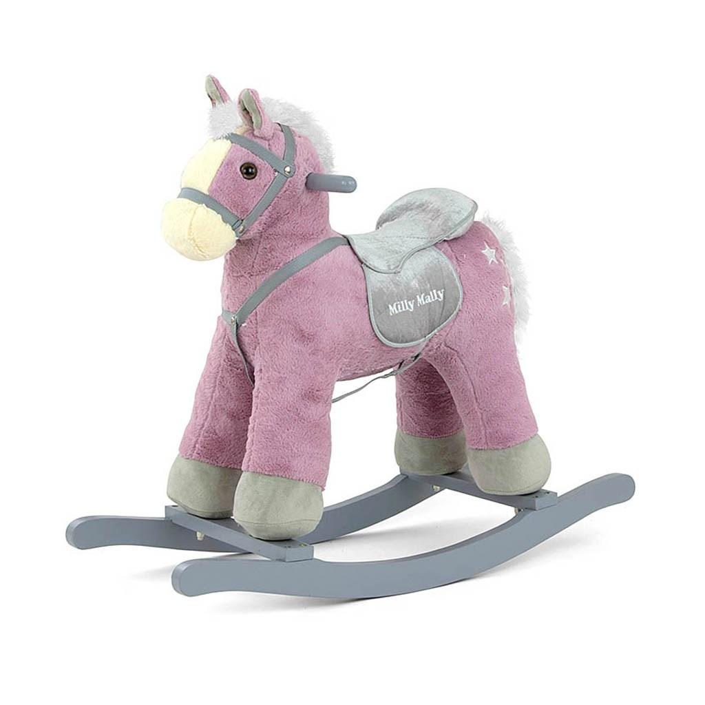 Hojdací koník Milly Mally PePe fialový
