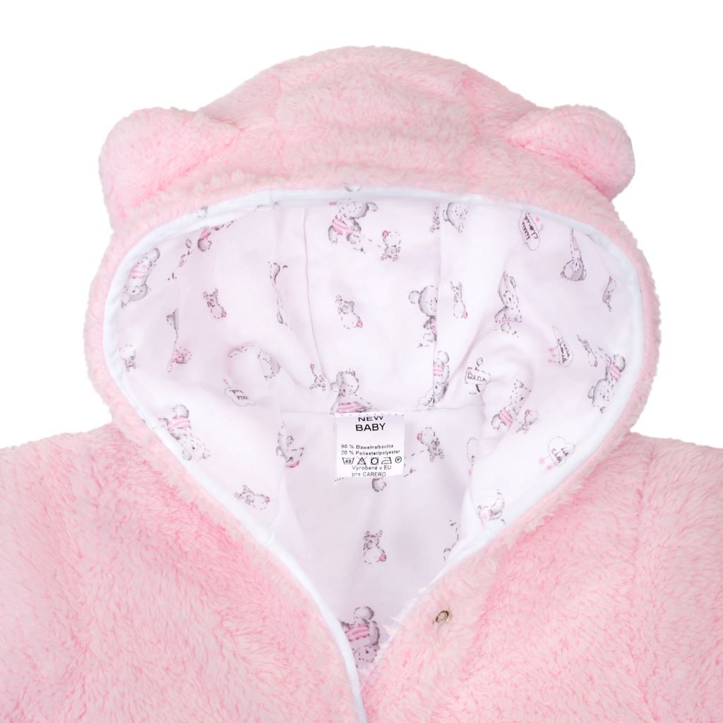 Zimná kombinézka New Baby Nice Bear ružová