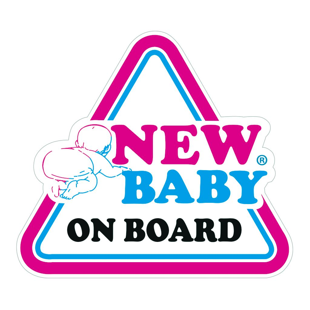 Samolepka na auto New Baby on board New Baby