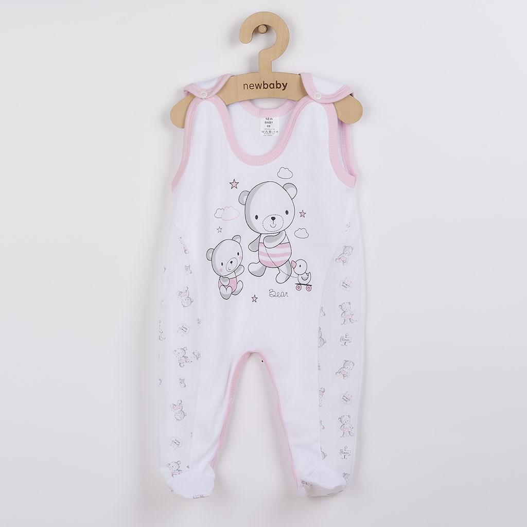 Dojčenské dupačky New Baby Bears ružové-56 (0-3m)