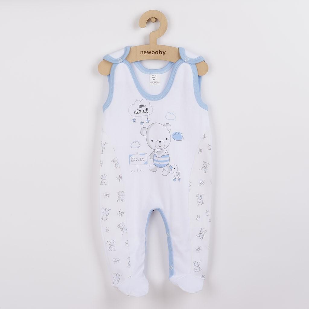 Dojčenské dupačky New Baby Bears modré-56 (0-3m)