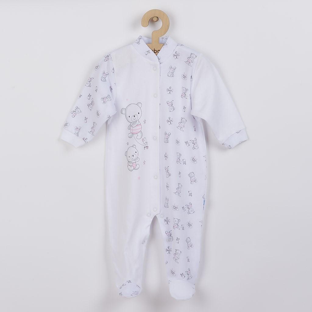 Dojčenský overal New Baby Bears ružový-50
